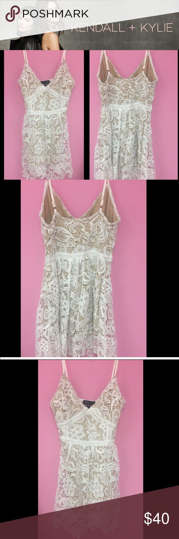 KENDALL & KYLIE Lace White Dress Please feel free to leave a comment below for the questions :) Kendall & Kylie Dresses Mini