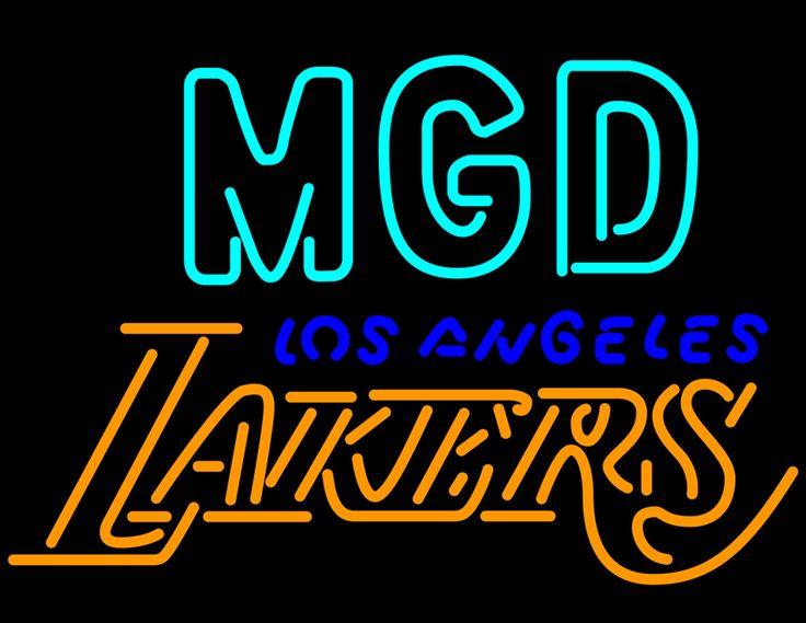 Miller MGD Los Angeles Lakers Neon Signs, Miller MGD Neon Beer Signs & Lights | Neon Beer Signs & Lights. Makes a great gift. High impact, eye catching, real glass tube neon sign. In stock. Ships in 5 days or less. Brand New Indoor Neon Sign. Neon Tube thickness is 9MM. All Neon Signs have 1 year warranty and 0% breakage guarantee.