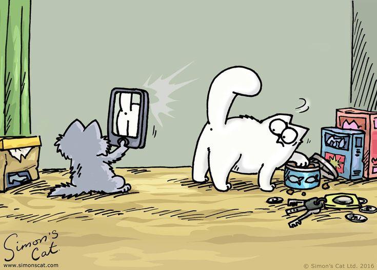 живые картинки кота саймона сердечки