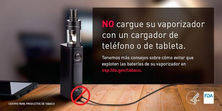 Si usa cigarrillos electrónicos, aprenda a reducir el riesgo de una explosión de la batería. https://go.usa.gov/xNv4r #VapeBatterySmart