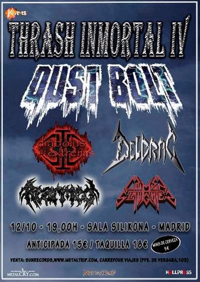 Comienza la semana con las Noticias en Rockllejeros: Siguen los festivales el 12 de octubre en Madrid el IV Thrash Inmortal