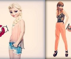 pretty disney elsa and anna in modern clothes - Google Search