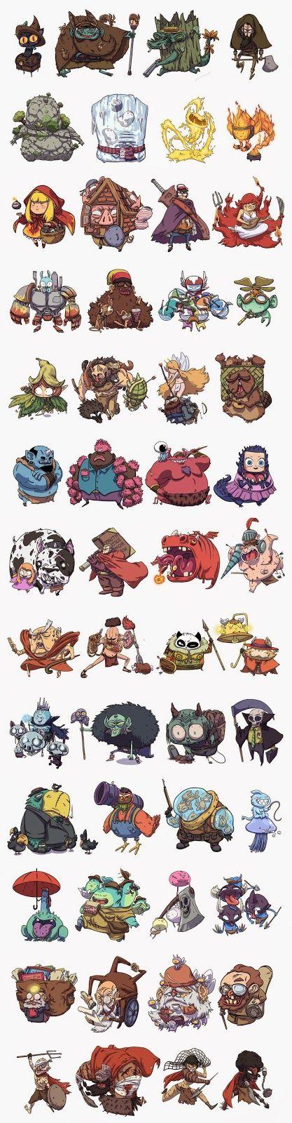 Diseño de personajes para juego de cartas   Jonatan Cantero
