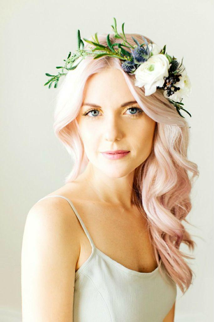 Bride Hair Wedding Hair Color Hair Wedding Bride Fashion Rainbow