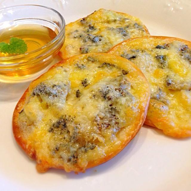 釣魚料理((*´∀`*)) - 15件のもぐもぐ - フッコの生ハムでゴルゴンゾーラピザ by NoriF