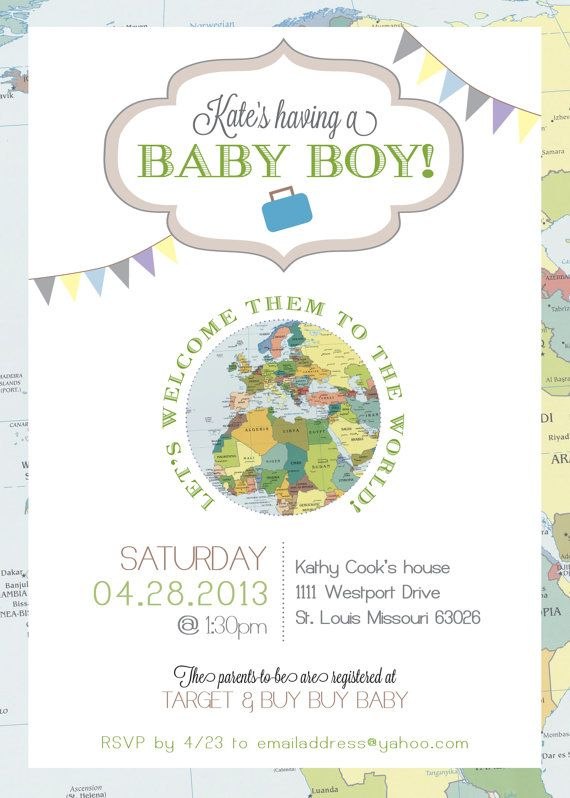 1000+ images about World baby shower invites on Pinterest | Around ...