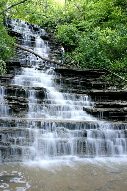 Buttermilk Falls - Georgetown Ohio by Mark Birkle, via Flickr