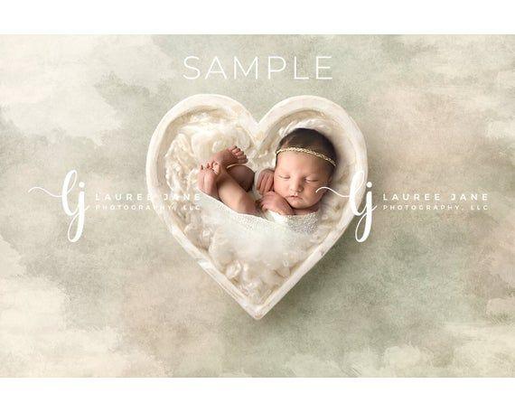 Wood Heart Bowl Digital Backdrop for Photoshop Newborn Digital Backdrop Floral Heart Bowl Digital Background Baby Girl Digital Backdrop
