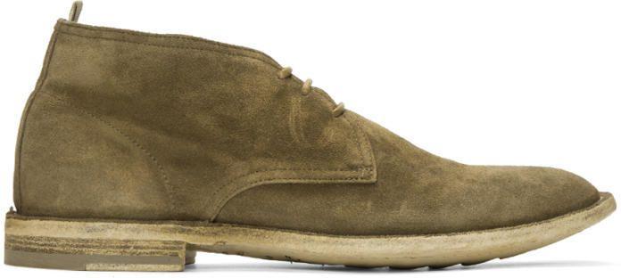 Officine Creative Tan Suede Standard Boots uVhjvYW4A