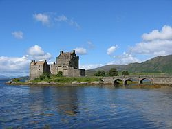 Eilean Donan Castle in schotland plaats loch duich van sint Donan