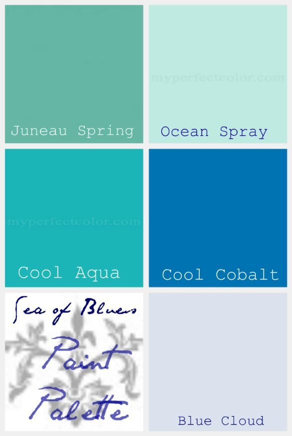 75 best images about ocean inspired paint colors on for Ocean blue color combinations