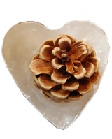 Heart shaped cinnamon kindle cone - eco friendly fire lighter.
