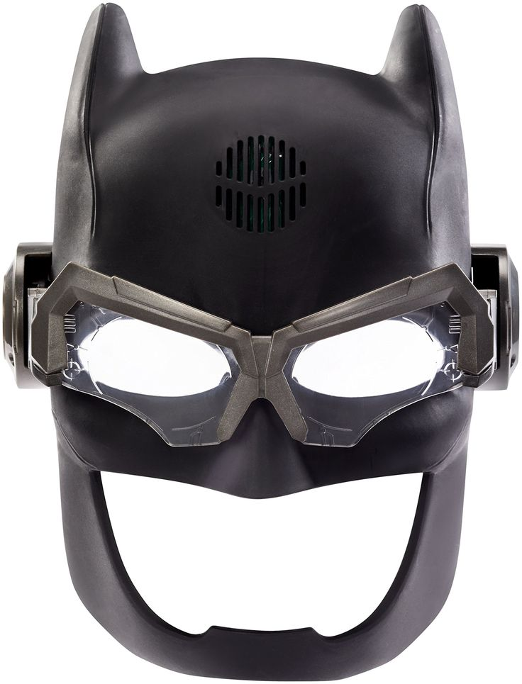 DC Justice League Batman Voice Changing Tactical Helmet Action Figure. Iconic Batman helmet from the new Justice League movie!. Pivoting, tactical visor flips down to activate the edge light. Voice changer enables you to speak like Batman!. Has alternate mode to play phrases and other authentic sound effects. Great gift for DC Justice League fans!.