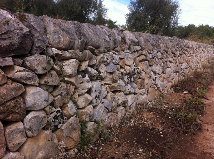 Stone wall, Scicli, Sicily