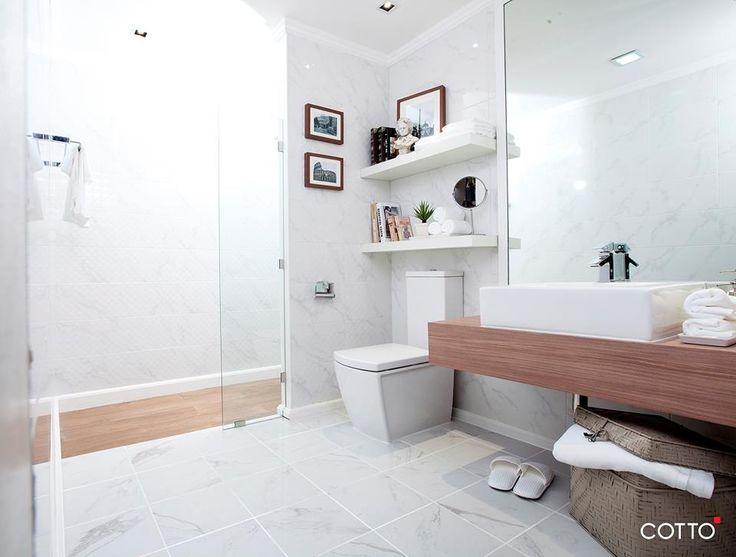 ความเร ยบหร ท ท กคนสามารถเข าถ งได ก บลวดลายห นอ อน Calcutta จากอ ตาล และความม ม ต จากลวดลายบนผ วกระเบ องมอบบรรยา Beautiful Bathrooms Bathroom Tile Bathroom