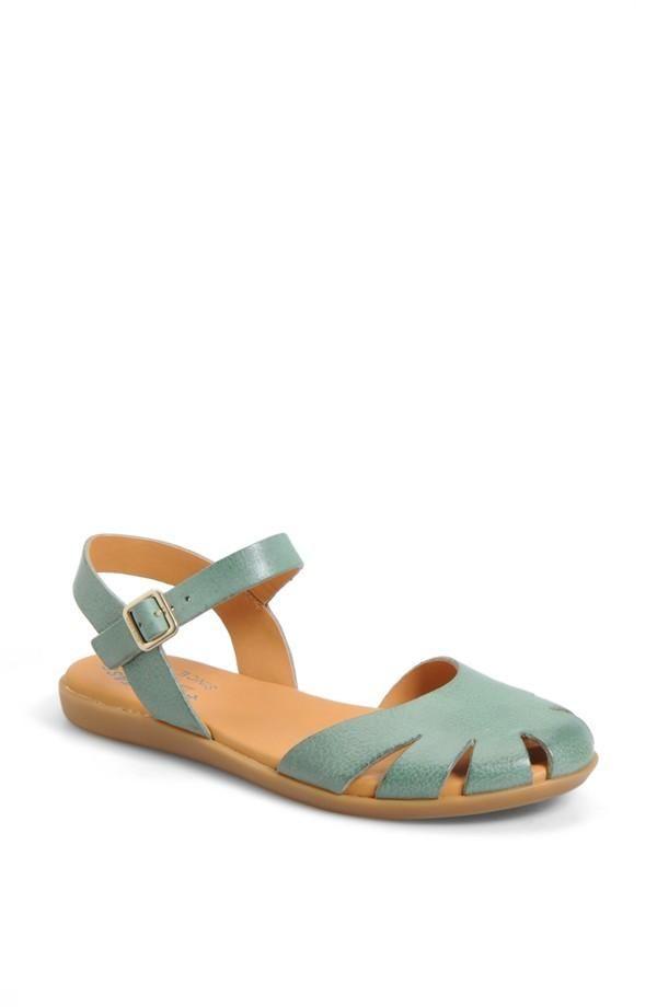 Mint sandals. Yes.