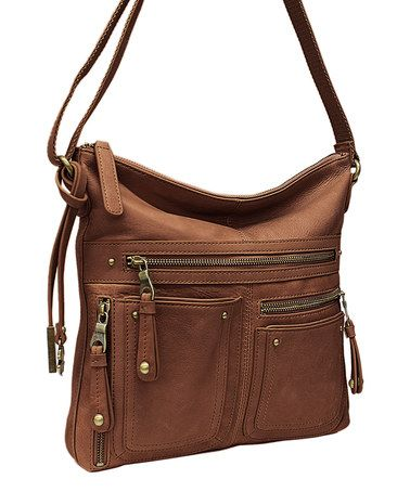 Another great find on #zulily! Brown Cargo Leather Crossbody Bag by Lucky Brand #zulilyfinds