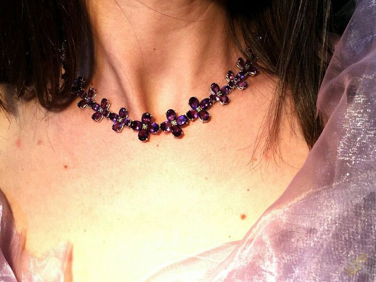 Fashion - Amethyst Crosses Gold Necklace -  Χρυσοί Σταυροί Περιδέραιο από Αμέθυστο