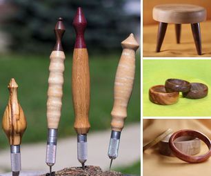 This is a collection of quick and easy wood turning projects to be made on a lathe. Most of these projects can be completed in an hour or under from start to finish.