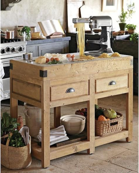 Small Island Kitchen: 167 Best Rustic Kitchens Images On Pinterest