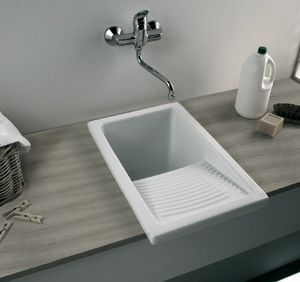 small laundry sink - ceramic w scrubbing section David - I'm looking for this type of sink with scrubbing section very common in Latin America ! my cleaning lady is asking for one !!