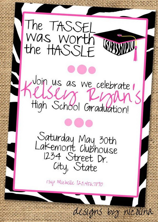 Graduation Invitation for Girl - 10  Creative Graduation Invitation Ideas, http://hative.com/creative-graduation-invitation-ideas/,