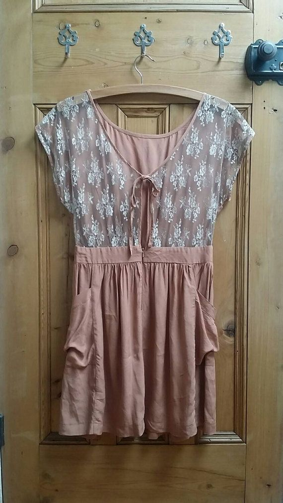 Lace dress womens clothing going out dresses summer dresses party dresses vintage dresses small boho clothing lace back Dolly Topsy Etsy UK