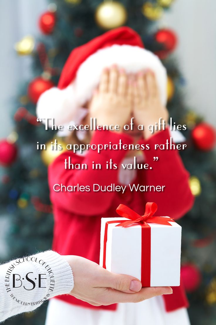 Gifts show how much someone means to you. The etiquette of gift giving simply underlines that the true value of a gift is not in its price tag.