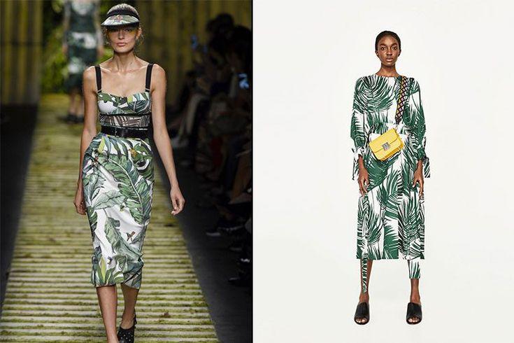 Estampado tropical  http://stylelovely.com/entutiendamecole/2017/03/vestidos-estampados