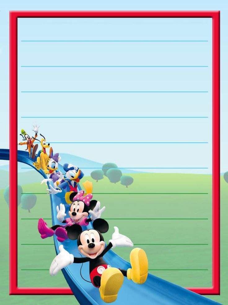 Mickey Mouse Clubhouse journal card