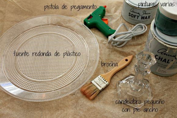 Soporte para tartas {Cake stand} - DIY