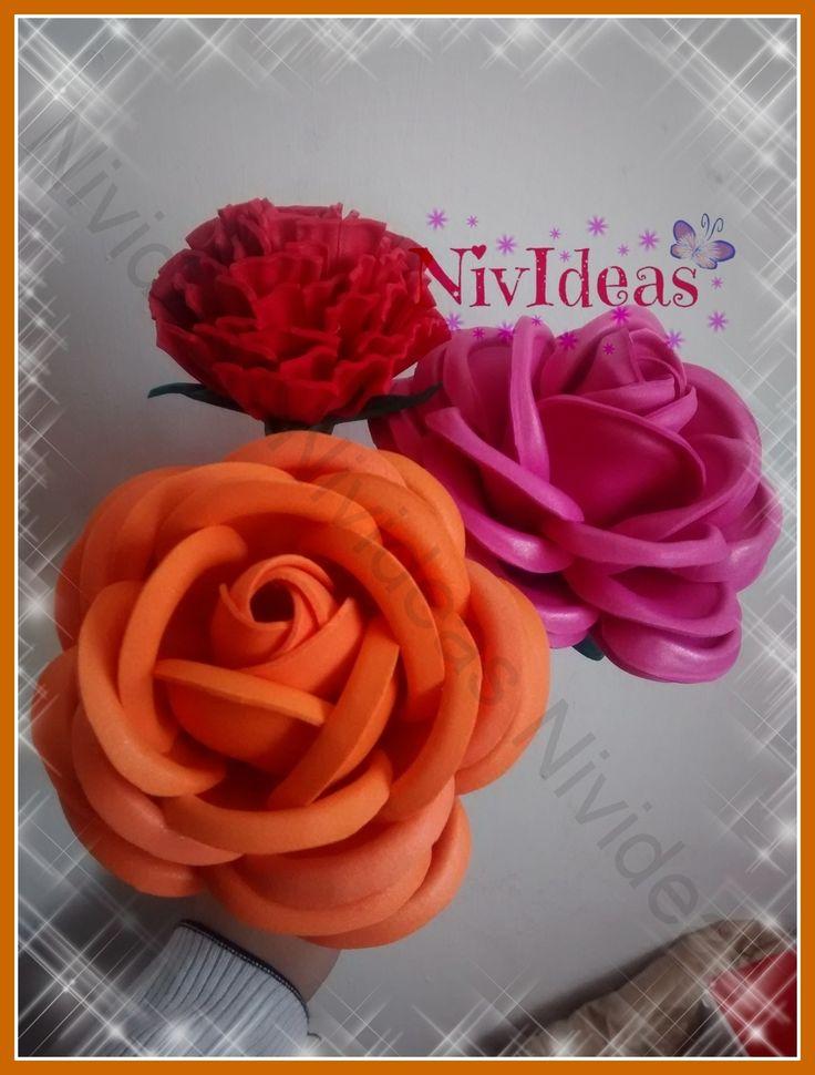 Flores de Goma eva Por Nivideas!