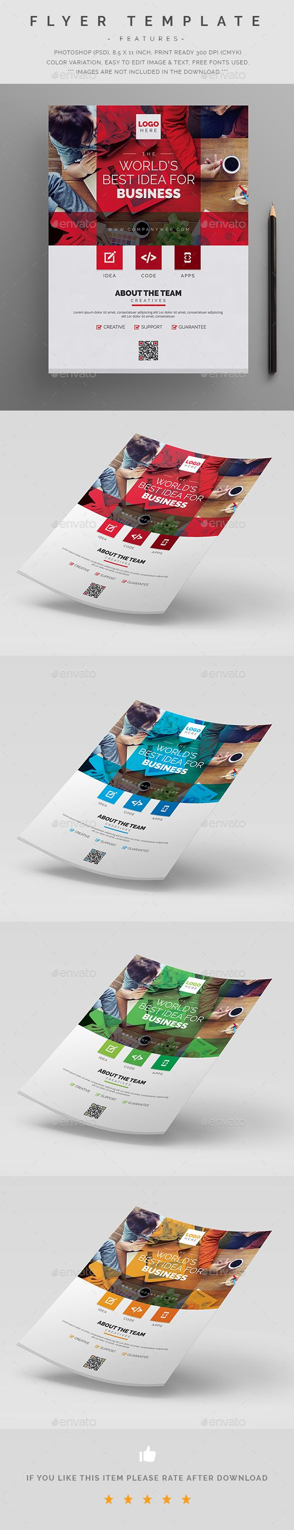 Poster design rates - Flyer Template Psd