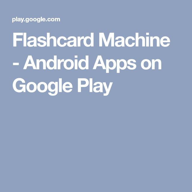 Flashcard Machine - Android Apps on Google Play