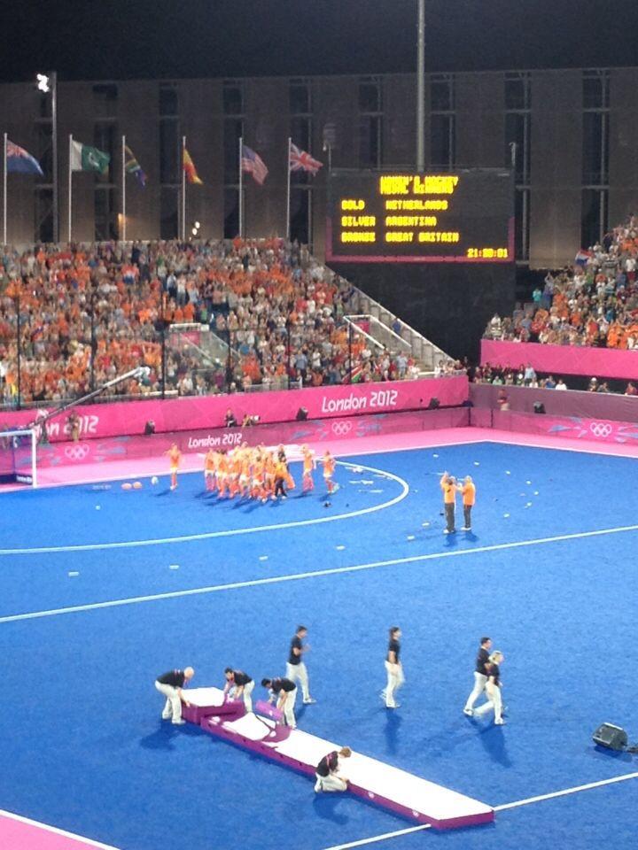 Olympische finale dameshockey NL-Arg, 2012