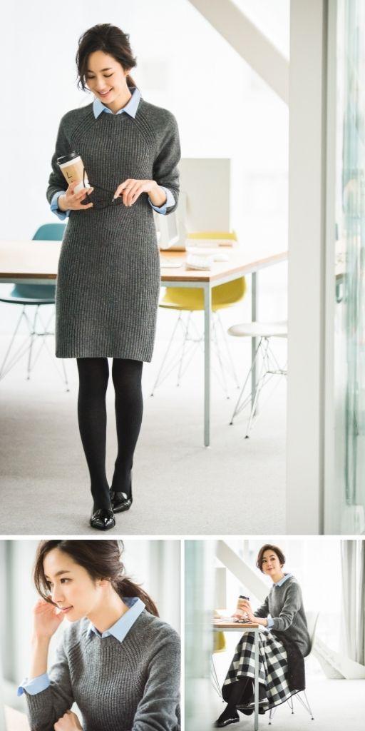 薄着に見えてかなりあったか♡ 冬のシーン別オフィススタイル:Timeline - UNIQLO ユニクロ
