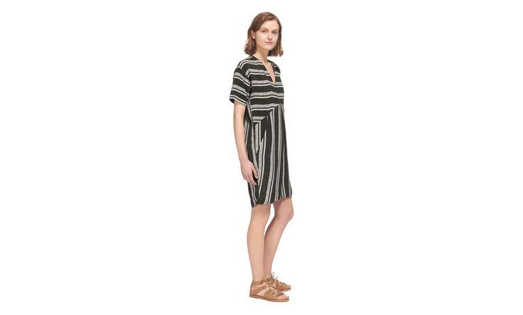 Stripe Josie Dress, in Khaki on Whistles