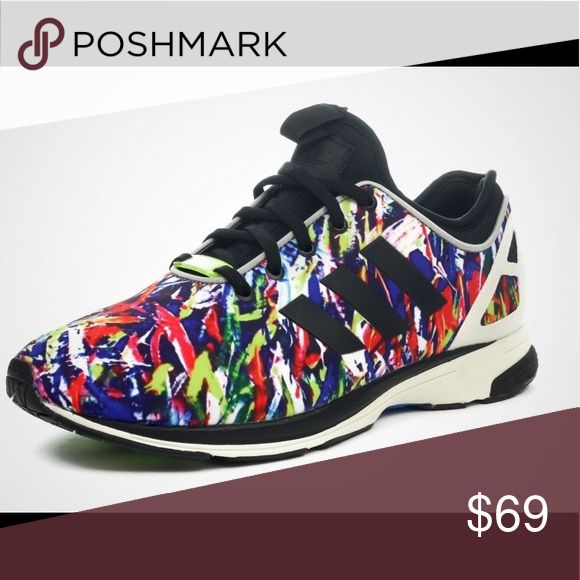 Adidas ZX flux multicolor rainbow sneaker Adidas adidas Shoes Sneakers