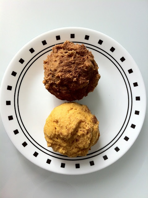 Weight Watchers pumpkin muffins two ways -- simple and delicious.
