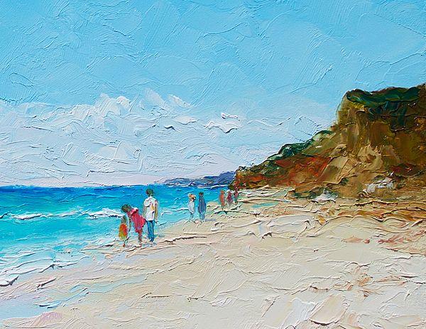 Ditch Plains Beach, Montauk, Hamptons, NY  #beachpaintings #DitchPlainsBeach