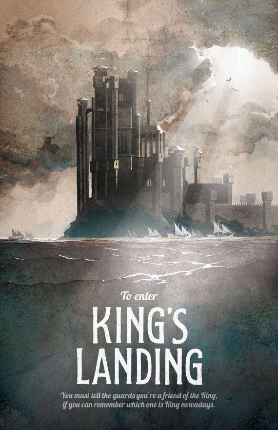 Spiel der Throne Poster Könige Landung von DreamMachinePrints