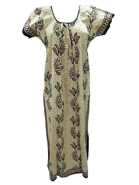 Boho Hippie Fashion Fine Cotton Kaftan Casual Caftan Maxi Dress For Women's