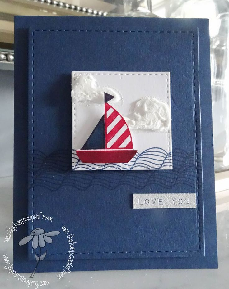 I love Jaydee's use of colour and small focal point for the image on this card. I also love the stitching on the layers.