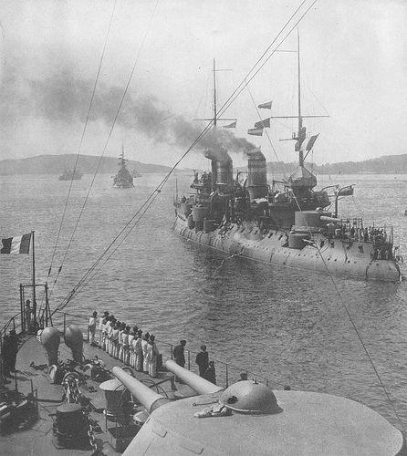 French battleship Bouvet in the Dardanelles.