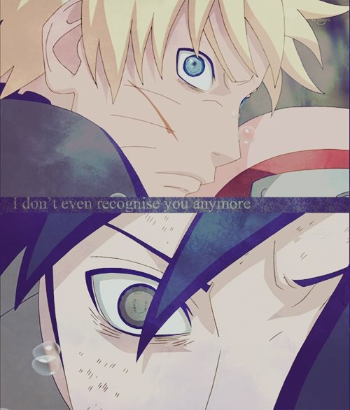 A day will come when I stop pinning pictures of Naruto and Sasuke staring dramatically at each other....but today is not that day.