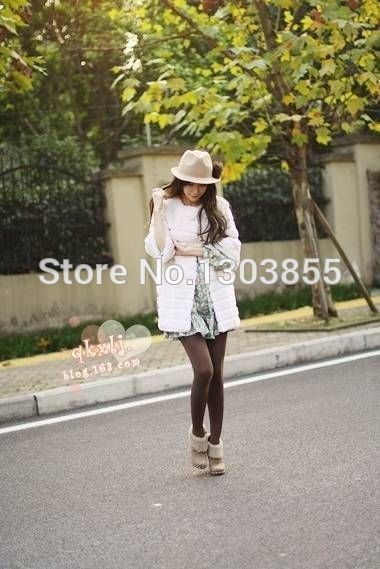 New Women Collarless Faux Rabbit Fur Jackets Coat Fashion Warm Outwear Parka SALES