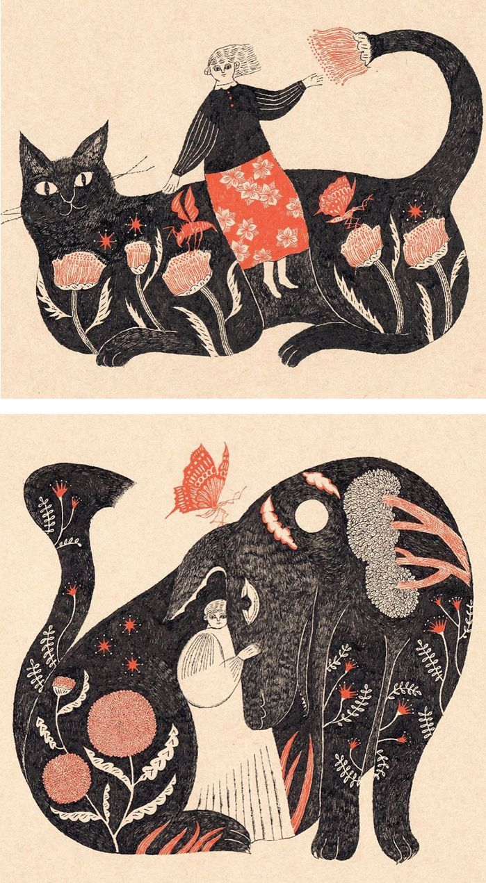 Animal illustration by Sanae Sugimoto
