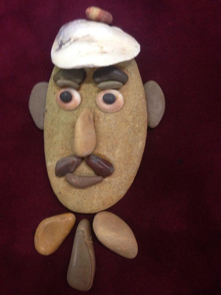 Pebble art portrait by gülen