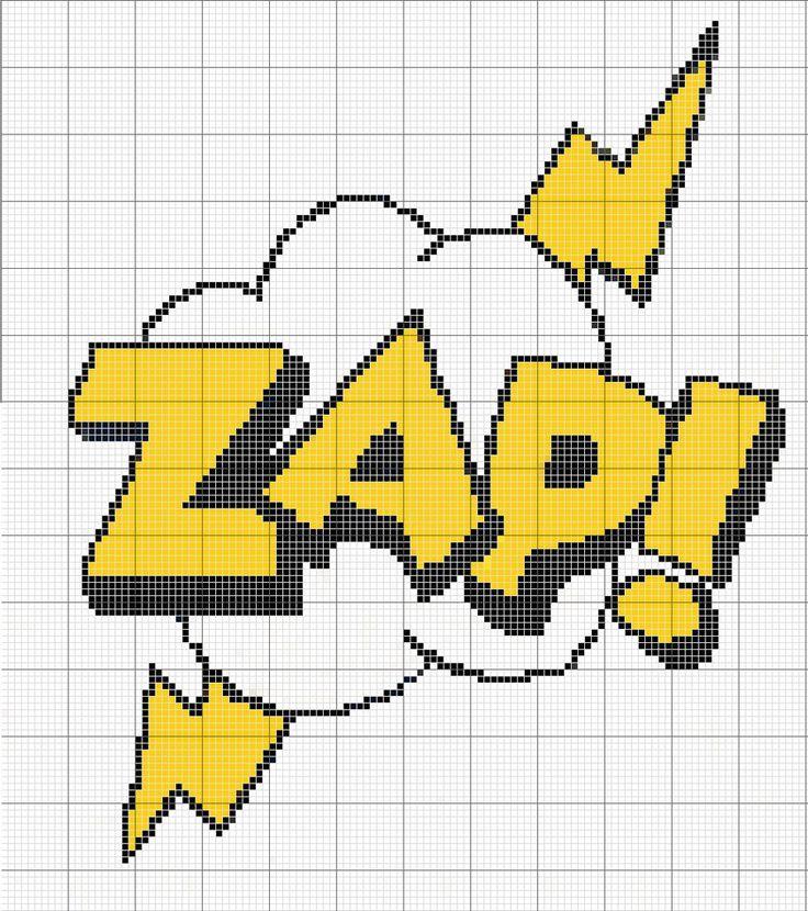 ZAP comic sound effect pattern by RawrrThePeowPeow on DeviantArt