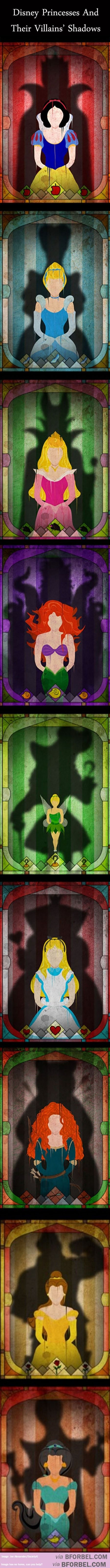 9 Disney Princesses Haunted By The Shadows Of Their Villains… | B for Bel